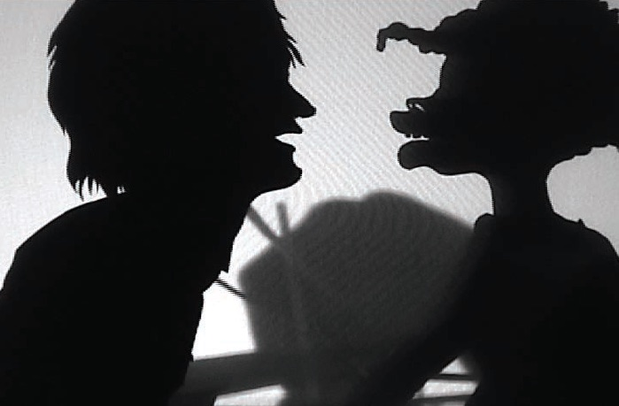 Kara Walker, Testimony: Narrative of a Negress Burdened by Good Intentions, 2004, 16mm film and video transferred to dvd, black and white, silent; 8:49 min, Edition of 5, Courtesy of the Artist and Sikkema Jenkins & Co., New York