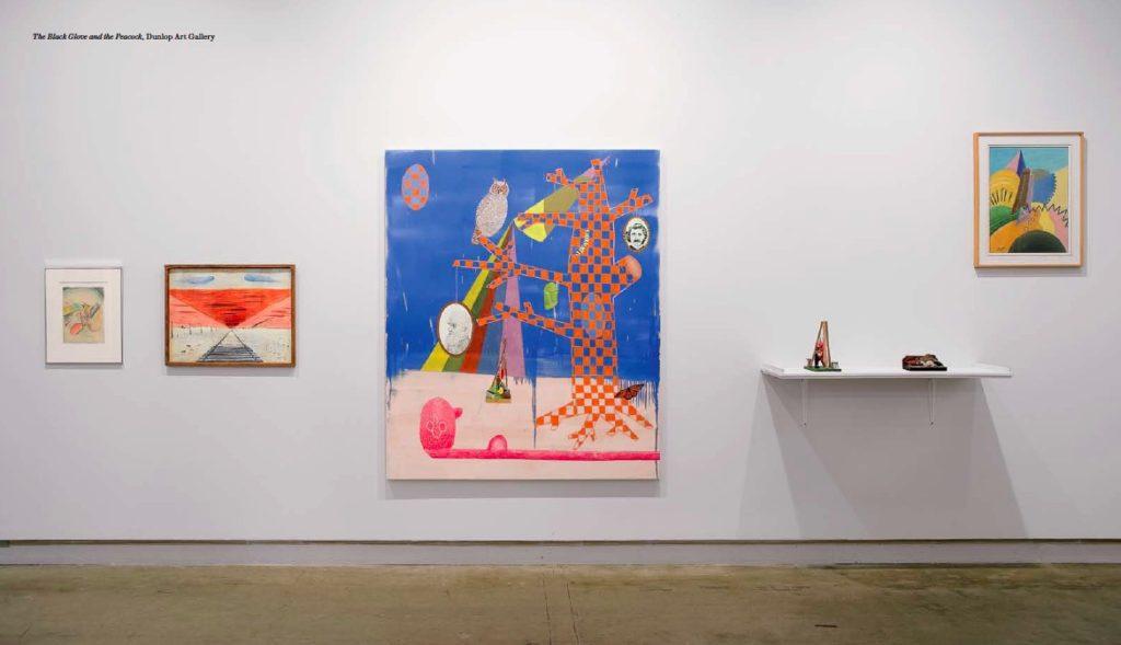 Cynthia Girard, The Black Glove and the Peacock, installation shot, Dunlop Art Gallery, Regina, SK, 2010
