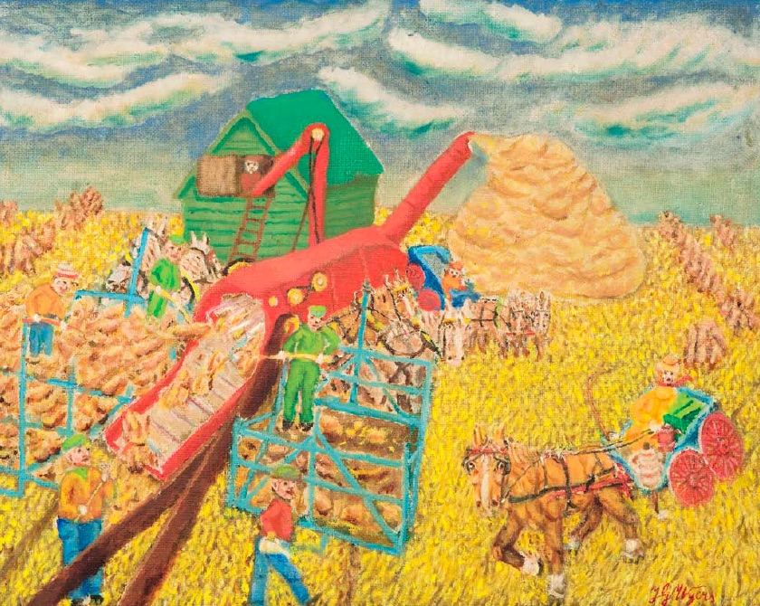 Jan Wyers, Working on the Farm, n.d., oil on board, 60 x 65cm, Private collection