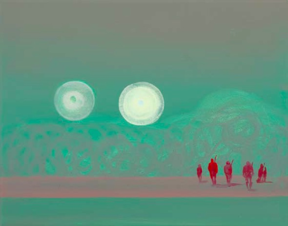 Wanda Koop, Untitled (from the Green Zone series) (02113), 2005, acrylic on canvas, 27.9 x 35.6cm