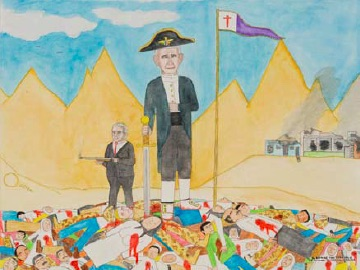 Michael Patterson-Carver, George the Terrible, 2008, colour pencil on paper, 37.5 x 50.0cm, Collection of Gail Garlick