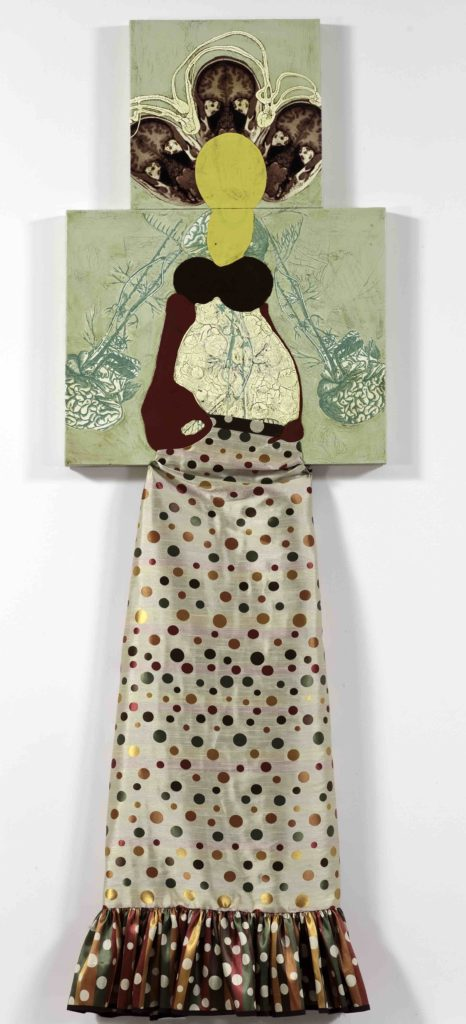 """Katherine Sherwood, Belly, 2010, Mixed media on canvas, 92"""" x 30"""", Courtesy of Gallery Paule Anglim, San Francisco"""