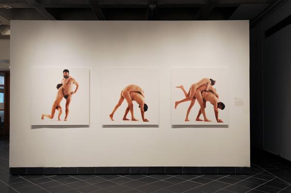 Artur Zmijewski, An Eye for An Eye, 1998, Photo on disband board, 39.3 × 39.3