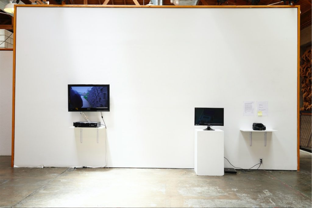 Performing Crip Time installation shot, Space4Art, San Diego