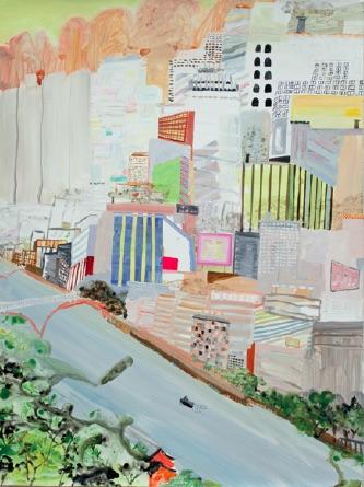 Lisa Sanditz, Sock City, 2005, Acrylic on canvas, 40 x 30 inches