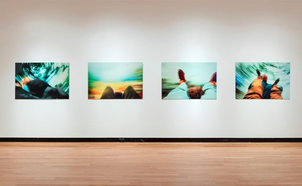 Martin Kersels, Whirling Patty, Whirling Mara, Whirling Mr. Keedy, Whirling Melinda, 1999, Cibachrome, edition of 10, 86.4 x 124.5 cm each, Courtesy of Redling Fine Arts, Los Angeles