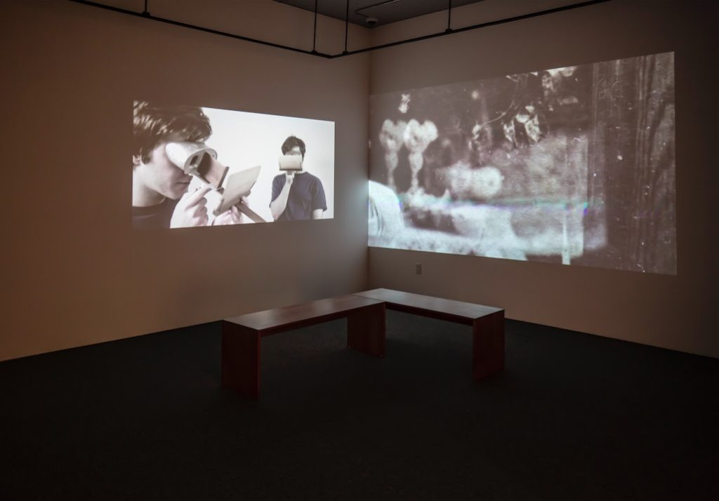 Darrin Martin, The Divide, 2015, Two-channel video installation, 14:07 minutes