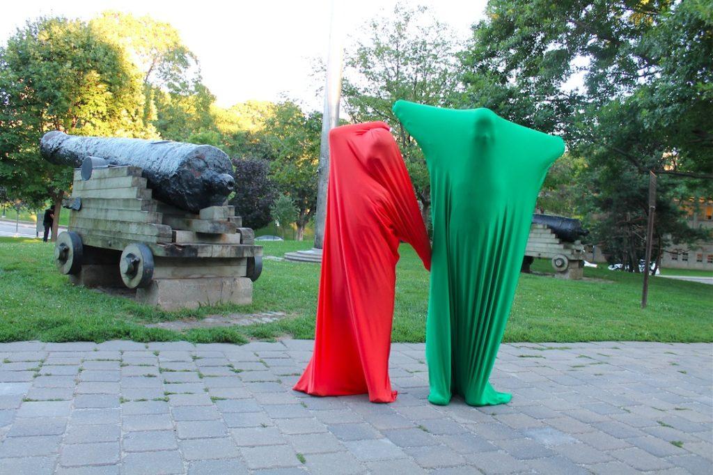 Sara Hendren, Unknown Armature: Body socks, 2012, Wearable material