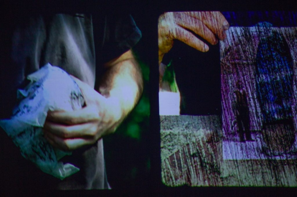 Steve Roden, Striations, 2011, Video, 6:00 minutes, silent, Accompanied by Distant Piece, 201, Sound activated on external speakers.