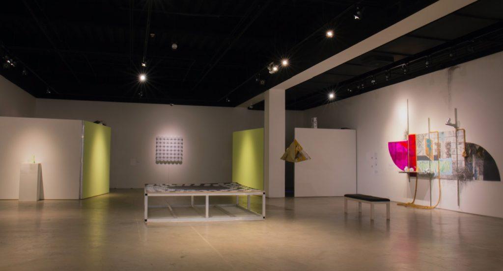 Sweet Gongs Vibrating installation shot, San Diego Art Institute
