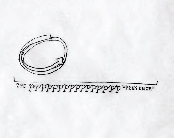 Christine Sun Kim, Etude #3, 2011, Pen on paper, 36 × 36